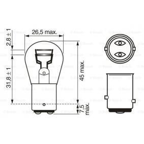 Bulb, indicator P21/5W, BAY15d, 12V, 21/5W 1 987 302 202