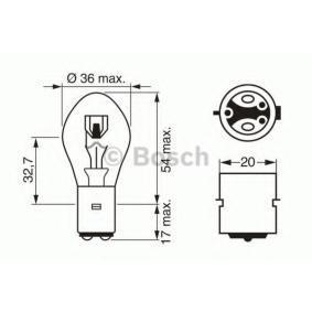 Крушка с нагреваема жичка, фар за дълги светлини S2, 35/35ват, 12волт 1 987 302 209