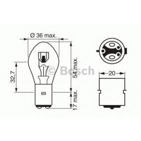 Glühlampe, Fernscheinwerfer S2, 35/35W, 12V 1 987 302 209