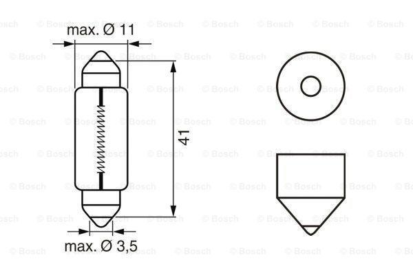 Glühlampe, Kennzeichenleuchte BOSCH K15772 Bewertung