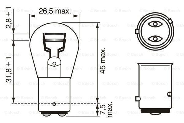 Bulb, brake / tail light BOSCH E12DR expert knowledge