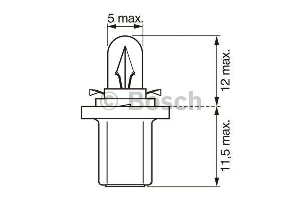 Bulb, instrument lighting BOSCH 1987302219 expert knowledge