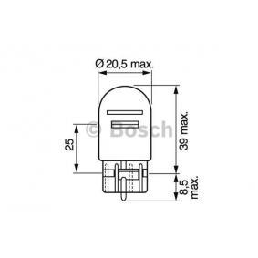 Bulb, brake / tail light W21/5W, 12V, W3x16q, 21/5W 1 987 302 252 VW GOLF, UP