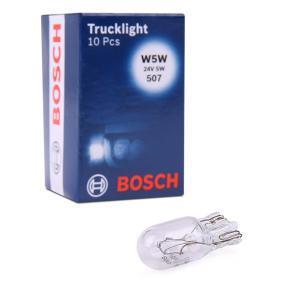 Bulb, park- / position light W5W, W2,1x9,5d, 24V, 5W 1 987 302 518