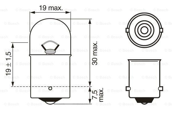 Bulb, licence plate light BOSCH 1 987 302 604 expert knowledge