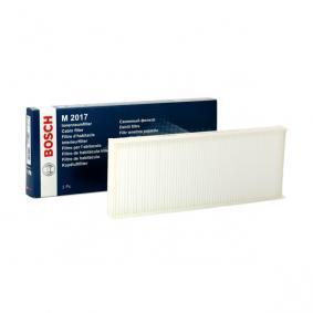 BOSCH Filter, Innenraumluft 1 987 432 017 für AUDI COUPE (89, 8B) 2.3 quattro ab Baujahr 05.1990, 134 PS