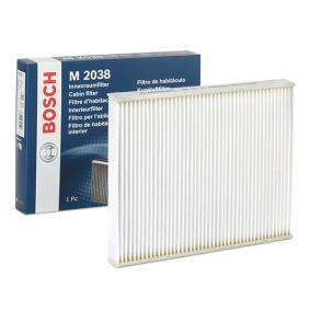 Filter, Innenraumluft Länge: 267mm, Breite: 234mm, Höhe: 30mm mit OEM-Nummer 1802422