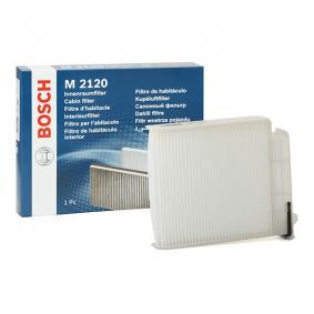 Filter, interior air Length: 225,5mm, Width: 188,6mm, Height: 43mm with OEM Number 7 701 059 997