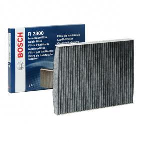 Filter, interior air Length: 280mm, Width: 206mm, Height: 30mm with OEM Number 1H0 091 800 SE