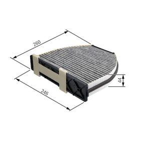 BOSCH  1 987 432 326 Filter, Innenraumluft Länge: 260mm, Breite: 246mm, Höhe: 44mm