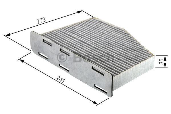 Filtro, aire habitáculo BOSCH R2369 4047024694903