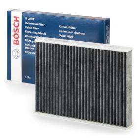 Filter, Innenraumluft Länge: 240mm, Breite: 190mm, Höhe: 35mm mit OEM-Nummer 256H 19G 244AA