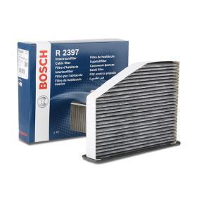 BOSCH Filter, Innenraumluft 1 987 432 397 für AUDI A3 (8P1) 1.9 TDI ab Baujahr 05.2003, 105 PS