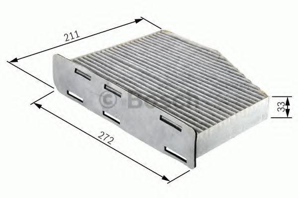 Cabin Air Filter BOSCH 1987432397 4047023215130