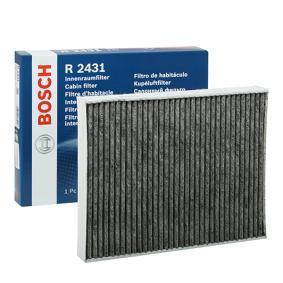 Filter, Innenraumluft Länge: 278mm, Breite: 219mm, Höhe: 30mm mit OEM-Nummer JZW 819 653 E