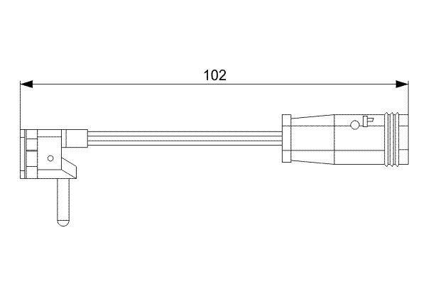 BOSCH  1 987 473 019 Contacto de aviso, desgaste de los frenos Long.: 102mm