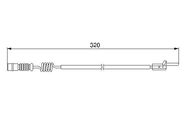 BOSCH  1 987 474 964 Contacto de aviso, desgaste de los frenos Long.: 320mm