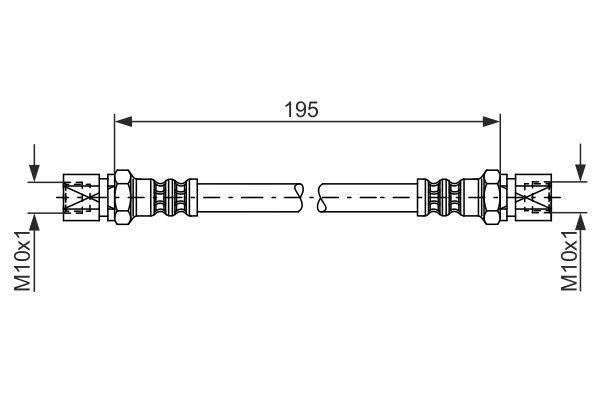 BOSCH  1 987 476 030 Bremsschlauch Länge: 199mm, Innengewinde: M10x1mm