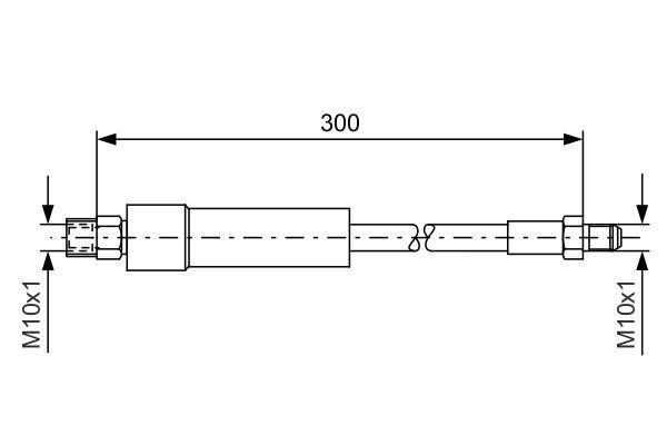 BOSCH  1 987 476 074 Bremsschlauch Länge: 300mm, Außengewinde: M10x1mm, Innengewinde 2: M10x1mm