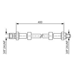 Bremsschlauch Länge: 408mm, Innengewinde: 3/8mm mit OEM-Nummer 7701454836