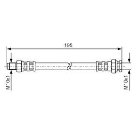 BOSCH  1 987 476 152 Bremsschlauch Länge: 175mm, Innengewinde 2: M10x1mm