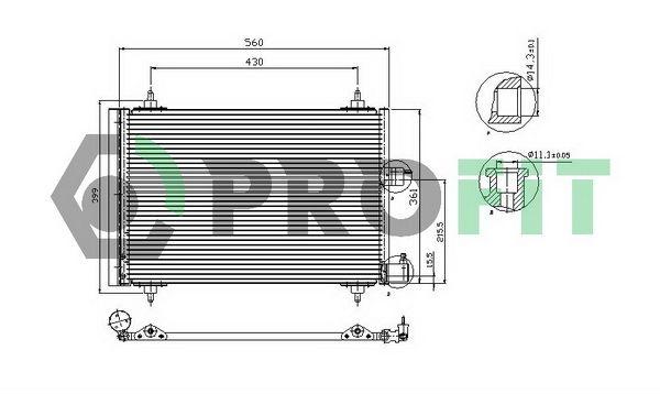 PROFIT  PR 1903C1 Kondensator, Klimaanlage