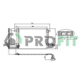 Kondensator, Klimaanlage mit OEM-Nummer 1K0 820 411G