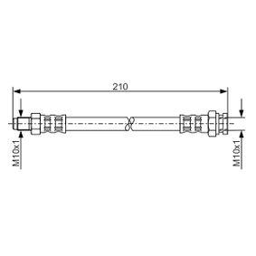 LANCIA Delta III (844) 1.4 Bifuel Bremsschläuche BOSCH 1 987 476 877 (1.4 Bifuel Benzin/Autogas (LPG) 2014 198 A4.000)