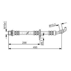 BOSCH  1 987 476 963 Bremsschlauch Länge: 490mm, Innengewinde: M10x1mm