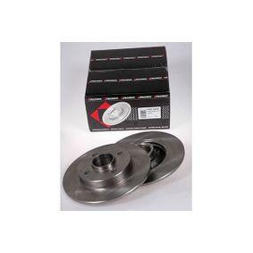 Bremsscheibe Bremsscheibendicke: 9,00mm, Lochanzahl: 4, Ø: 249mm mit OEM-Nummer 4249,34