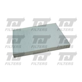 Filter, interior air Length: 280mm, Width: 206,5mm, Height: 25mm with OEM Number 1H0819644