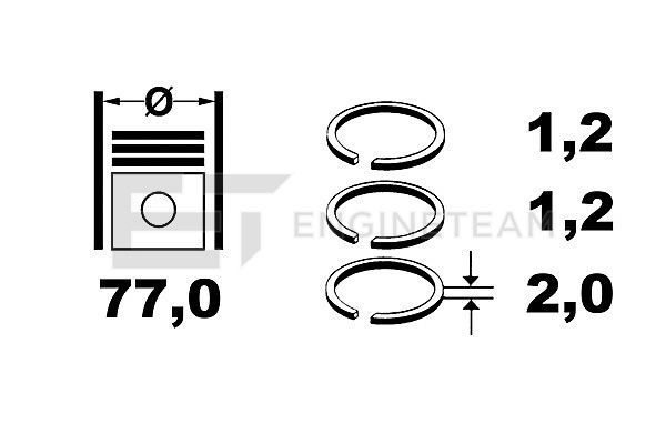 Kolbenringsatz R4001800 ET ENGINETEAM R4001800 in Original Qualität