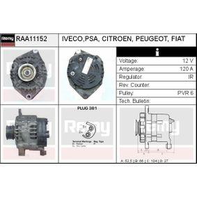 Lichtmaschine Rippenanzahl: 6 mit OEM-Nummer 5705.EV