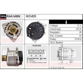 Генератор RAA14869 800 (XS) 2.0 I/SI Г.П. 1997