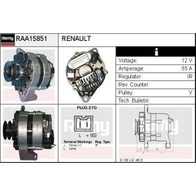 Generator Rippenanzahl: 1 mit OEM-Nummer 541518