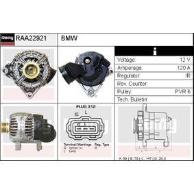 Lichtmaschine Rippenanzahl: 6 mit OEM-Nummer 12 31 7 501 593
