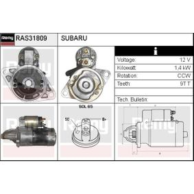 Starter RAS31809 IMPREZA Schrägheck (GR, GH, G3) 2.5 WRX STI AWD (GRF) Bj 2013