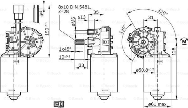 Motor del limpiaparabrisas BOSCH F006B20098 conocimiento experto