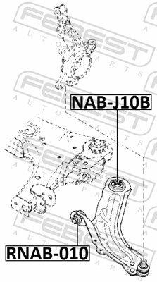 Querlenkerbuchse FEBEST RNAB-010 Bewertung