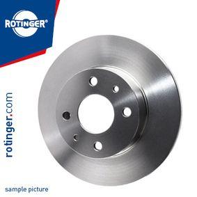 Bremsscheibe Bremsscheibendicke: 12,60mm, Lochanzahl: 4, Ø: 239,50mm mit OEM-Nummer 6 100 043