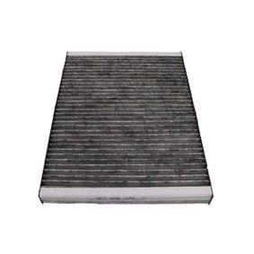 Filter, Innenraumluft Länge: 282mm, Breite: 206mm, Höhe: 30mm mit OEM-Nummer JZW 819 653