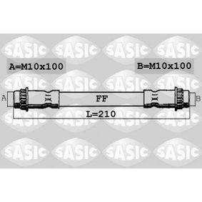 Bremsschlauch Länge: 210mm, Gewindemaß 2: M10X100 mit OEM-Nummer 8200 572 102