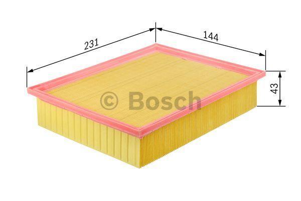 Légszűrő BOSCH F026400037 szaktudással