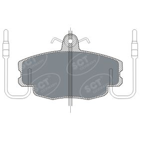 Bremsbelagsatz, Scheibenbremse Breite: 100mm, Höhe: 63,5mm, Dicke/Stärke: 17,9mm mit OEM-Nummer 7701 201 774