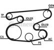 Keilrippenriemensatz VW Transporter 4 Pritsche / Fahrgestell (70E, 70L, 70M, 7DE, 7DL) 2002 Baujahr 6PK2238 CONTITECH mit Kurbelwellenriemenscheibe