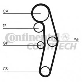 Timing Belt Set Width: 30mm with OEM Number CT1028 CONTITECH