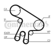 Timing belt kit CONTITECH CT1043WP1 Teeth Quant.: 178, with tensioner pulley damper