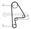 Timing belt kit HONDA FR-V (BE) 2015 year CT1082K1 CONTITECH Teeth Quant.: 104