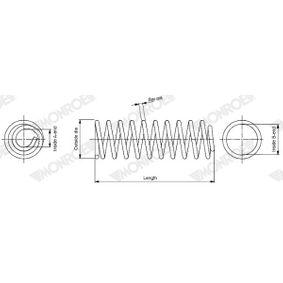 MONROE  SP4112 Fahrwerksfeder Länge: 385mm, Ø: 110mm