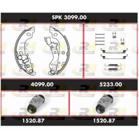 Brake Set, drum brakes SPK 3099.00 PUNTO (188) 1.2 16V 80 MY 2002